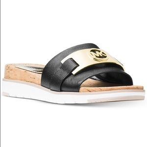 MICHAEL KORS Black Warren sandals